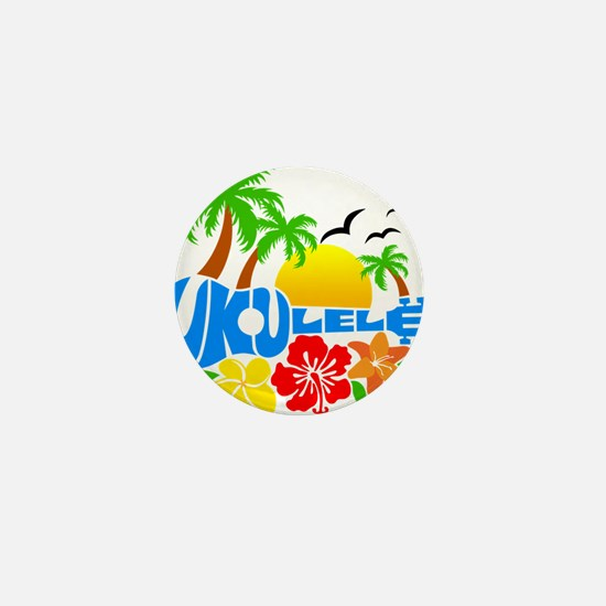 Ukulele Island Logo Mini Button