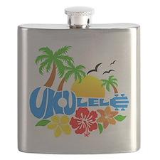 Ukulele Island Logo Flask
