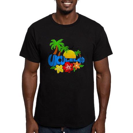 Ukulele Island Logo Men's Fitted T-Shirt (dark)