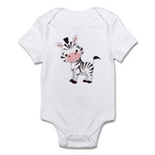 Cute Baby Zebra Infant Bodysuit