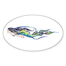 Mermaid Oval Bumper Stickers