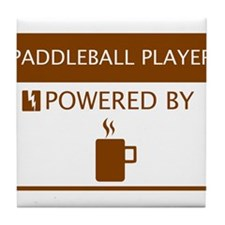 Paddleball Player Powered by Coffee Tile Coaster