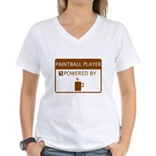 Paintball Player Powered by Coffee Shirt