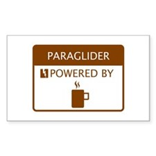 Paraglider Powered by Coffee Decal