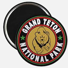 Grand Teton Black Circle Magnet