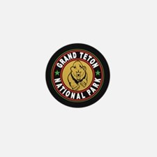 Grand Teton Black Circle Mini Button