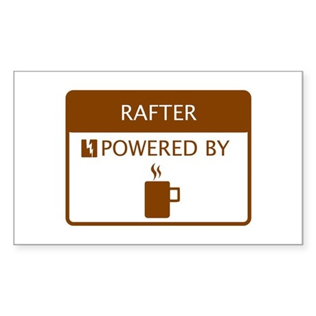 Rafter Powered by Coffee Sticker (Rectangle)