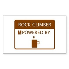 Rock Climber Powered by Coffee Decal