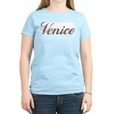 Vintage Venice Women's Pink T-Shirt