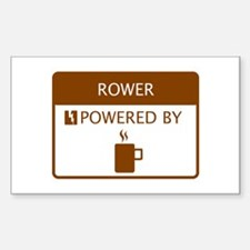 Rower Powered by Coffee Sticker (Rectangle)