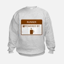 Runner Powered by Coffee Sweatshirt