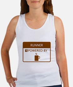 Runner Powered by Coffee Women's Tank Top