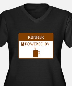 Runner Powered by Coffee Women's Plus Size V-Neck