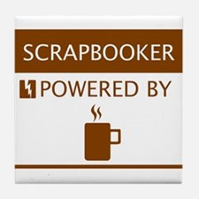 Scrapbooker Powered by Coffee Tile Coaster