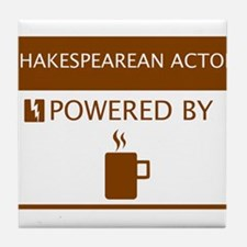 Shakesperean Actor Powered by Coffee Tile Coaster