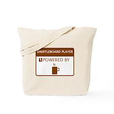 Shuffleboard Player Powered by Coffee Tote Bag