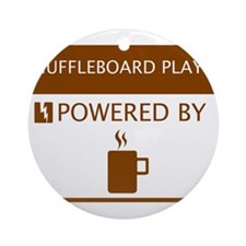 Shuffleboard Player Powered by Coffee Ornament (Ro