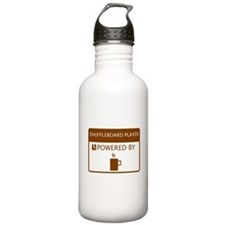 Shuffleboard Player Powered by Coffee Water Bottle
