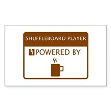 Shuffleboard Player Powered by Coffee Decal