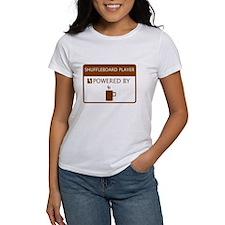 Shuffleboard Player Powered by Coffee Tee