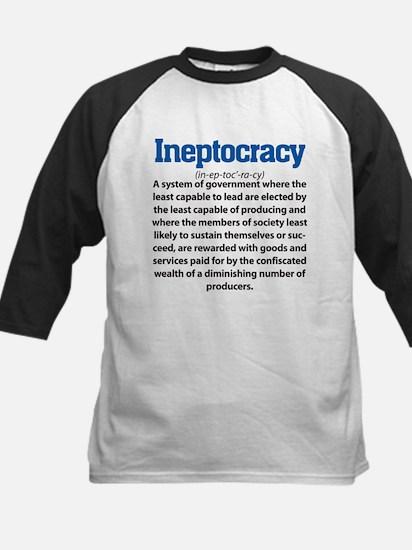 Ineptocracy Kids Baseball Jersey