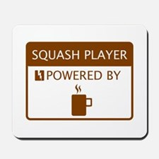 Squash Player Powered by Coffee Mousepad