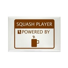 Squash Player Powered by Coffee Rectangle Magnet