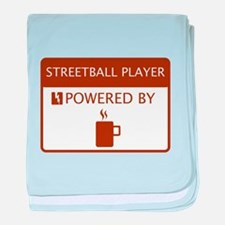 Streetball Player Powered by Coffee baby blanket