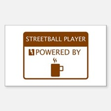 Streetball Player Powered by Coffee Decal