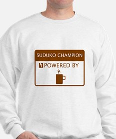 Suduko Champion Powered by Coffee Sweatshirt