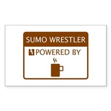 Sumo Wrestler Powered by Coffee Decal