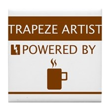 Trapeze Artist Powered by Coffee Tile Coaster