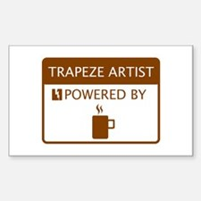 Trapeze Artist Powered by Coffee Decal
