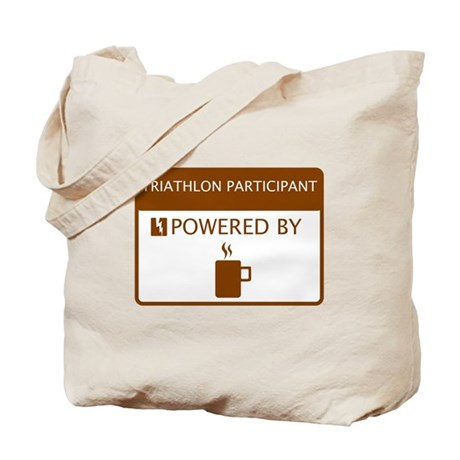 Triathlon Participant Powered by Coffee Tote Bag