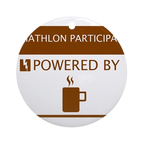 Triathlon Participant Powered by Coffee Ornament (