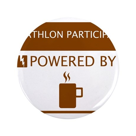 "Triathlon Participant Powered by Coffee 3.5"" Butto"