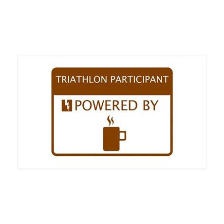 Triathlon Participant Powered by Coffee 35x21 Wall