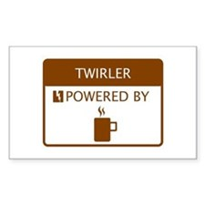 Twirler Powered by Coffee Decal