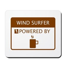 Wind Surfer Powered by Coffee Mousepad