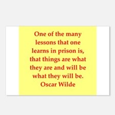 oscar wilde quote Postcards (Package of 8)