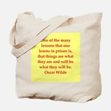 oscar wilde quote Tote Bag