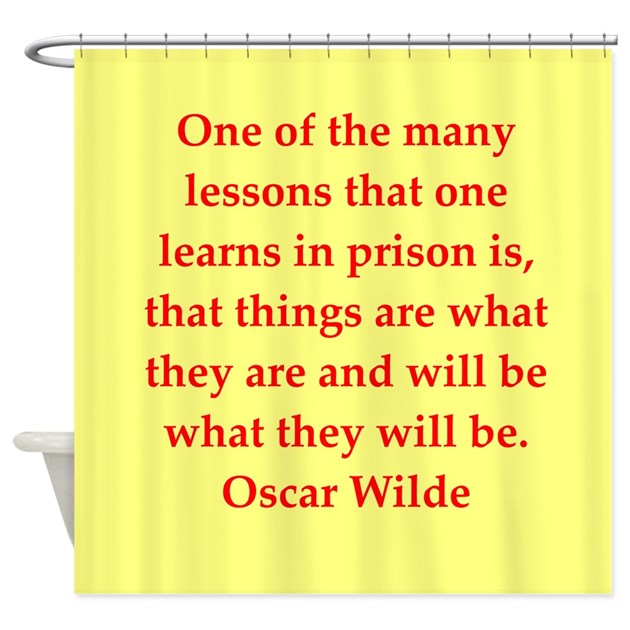 Oscar Wilde Quote Shower Curtain By Twainsworld