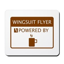 Wingsuit Flyer Powered by Coffee Mousepad