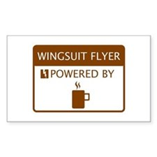 Wingsuit Flyer Powered by Coffee Decal