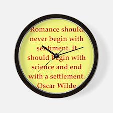 oscar wilde quote Wall Clock