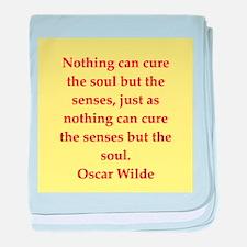 oscar wilde quote baby blanket