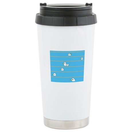 Swimming Contest Stainless Steel Travel Mug