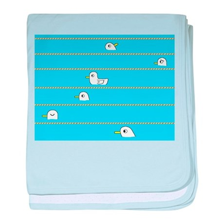 Swimming Contest baby blanket