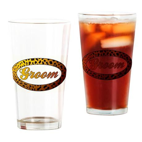 CHEETAH GROOM Drinking Glass