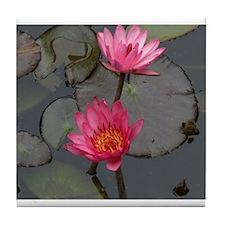 Lillies Tile Coaster